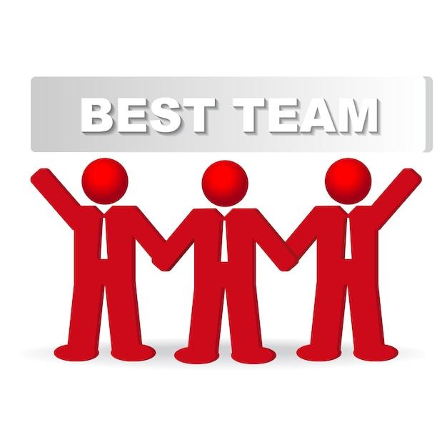 Três, negócio, homens, conceito, melhor, equipe Vetor grátis