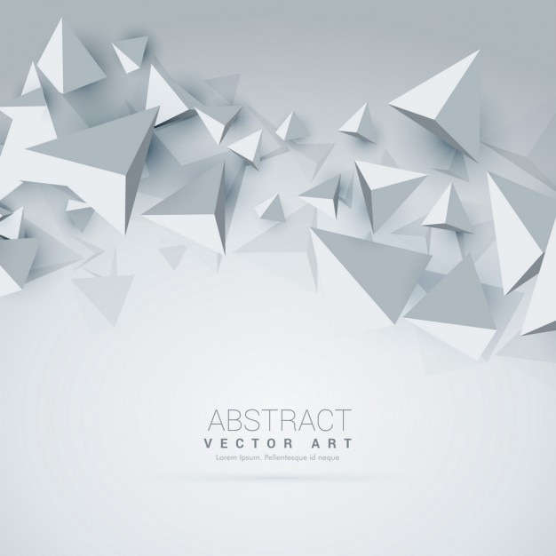 Triângulo abstrato 3d formas fundo Vetor grátis