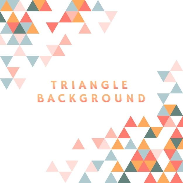 Triângulo colorido, modelado em fundo branco Vetor grátis