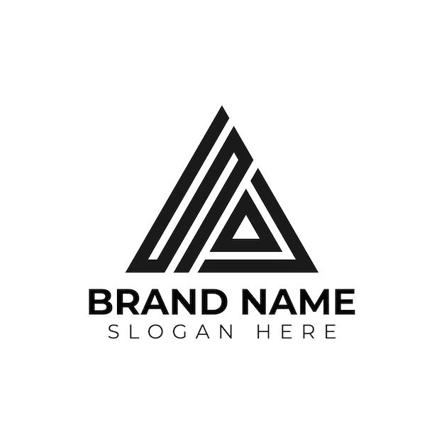 Triângulo com letra inicial Vetor Premium
