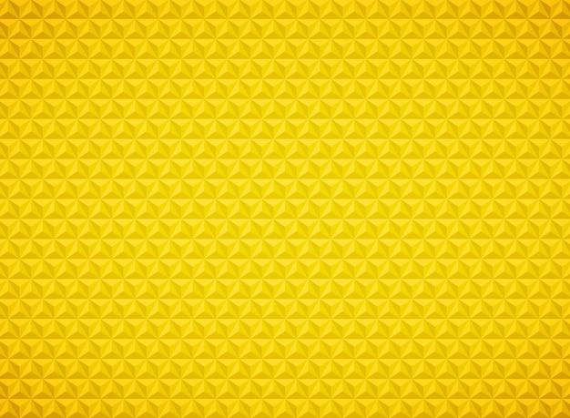 Triângulo de luxo padrão geométrico fundo dourado Vetor Premium