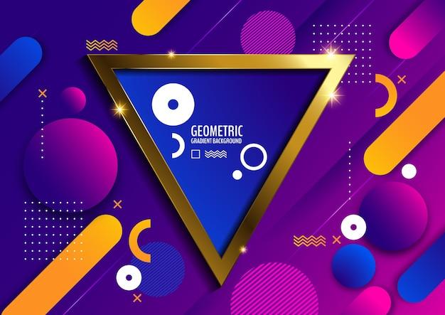 Triângulo geométrico, fundo gradiente mínimo Vetor Premium