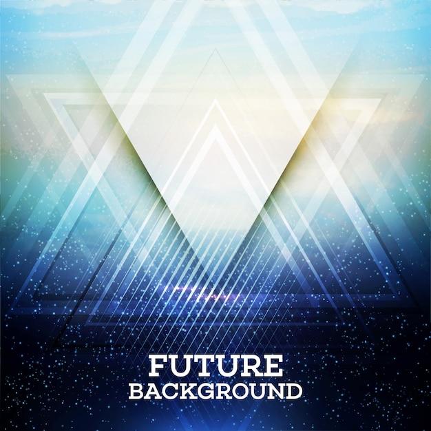 Triângulo resumo de fundo vector futuro Vetor Premium