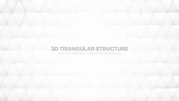 Triângulos 3d conceituais fundo abstrato branco Vetor Premium
