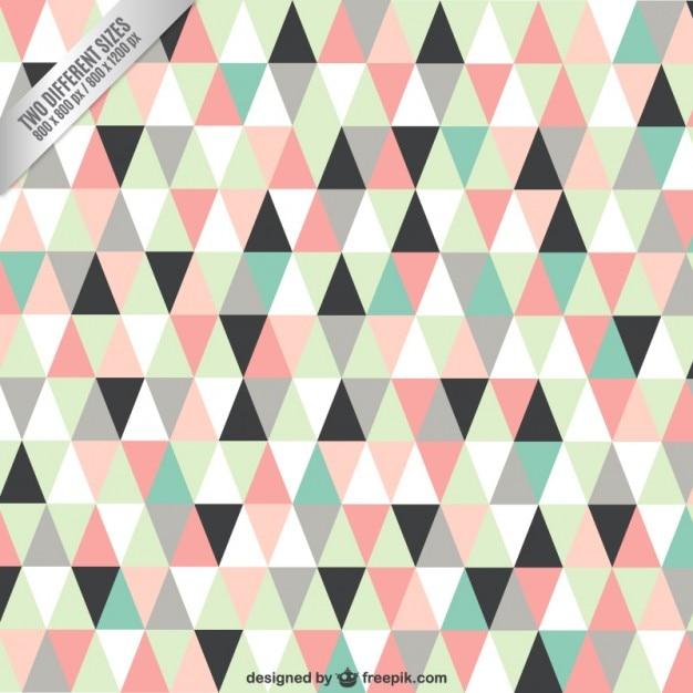 Triângulos fundo em tons pastel Vetor grátis