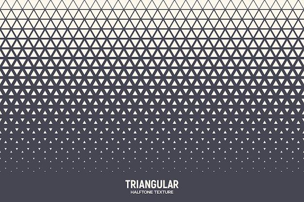 Triângulos padrão de meio-tom fundo geométrico abstrato Vetor Premium