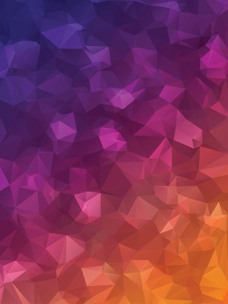 Triângulos roxos Vetor Premium