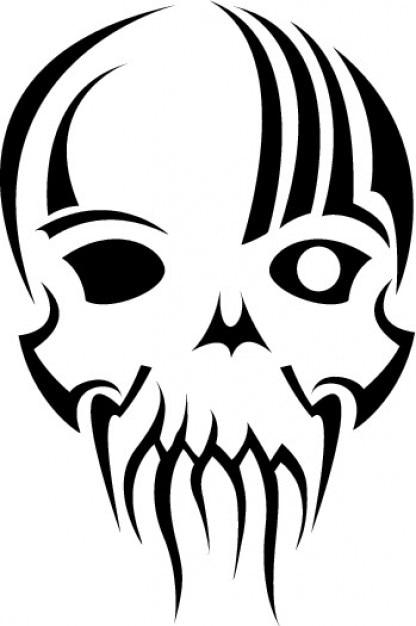Tribal Mascara De Caveira Ilustracao Vetorizada Vetor Gratis