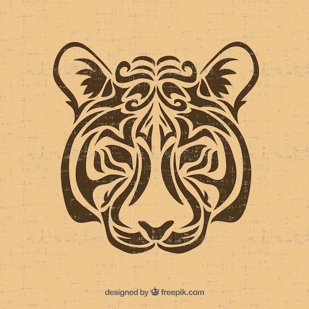Tribal tiger vector Vetor grátis