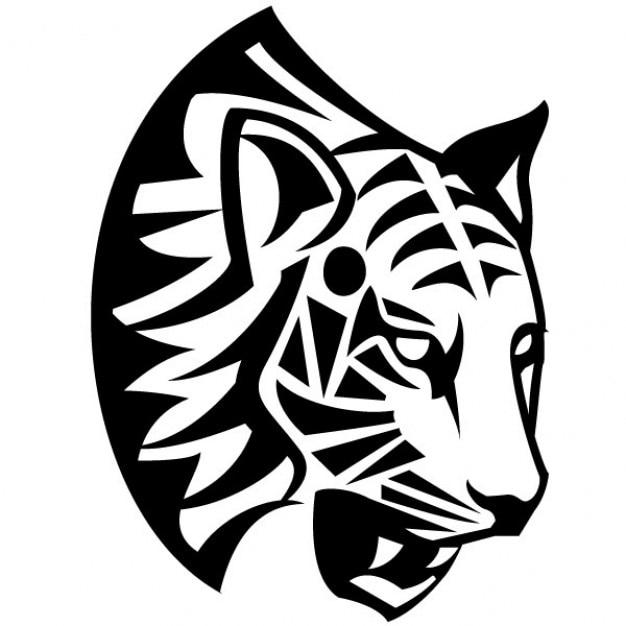 Tribal tigre rosto ilustração vetorial Vetor grátis