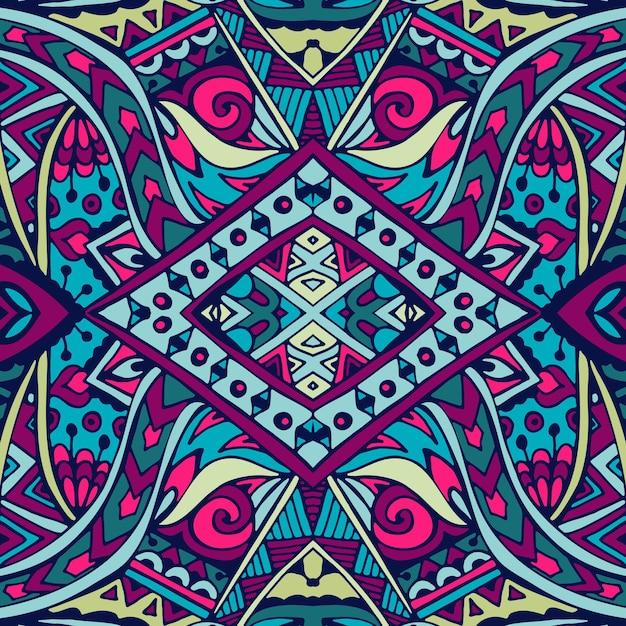 Tribal vetor abstrato geométrico étnico padrão sem emenda ornamental Vetor Premium