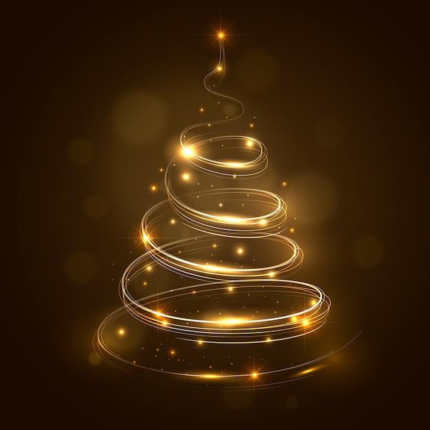 Trilha de luz conceito de árvore de natal Vetor grátis
