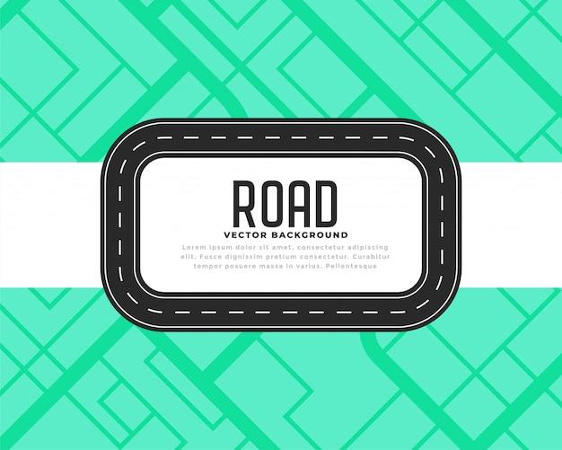 Trilha estrada, ou, viagem, fundo Vetor grátis