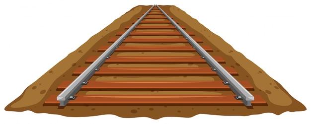 Trilho de trem no chão Vetor grátis