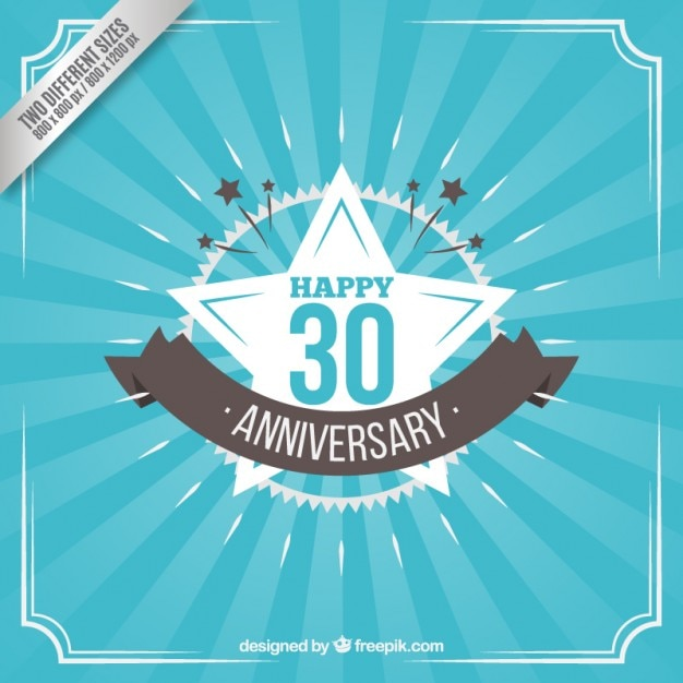 Trinta aniversário feliz no estilo do vintage Vetor grátis