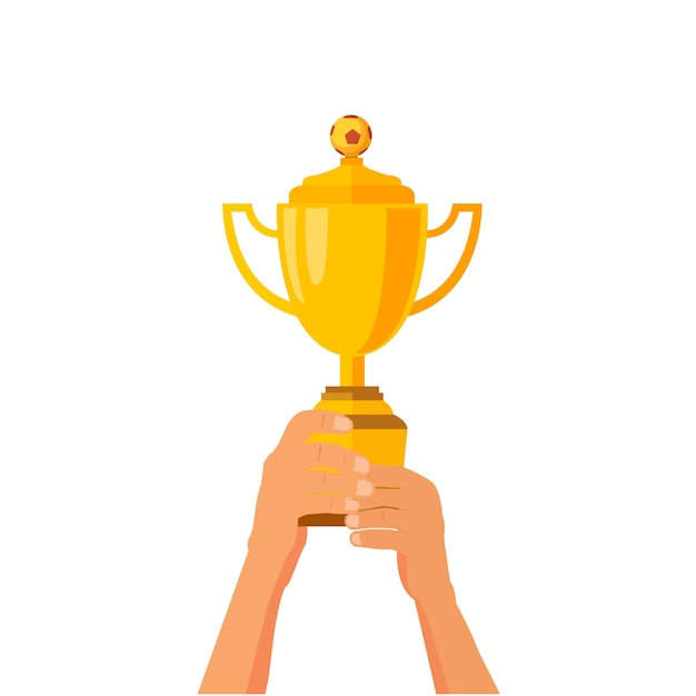 Troféu de futebol Vetor Premium