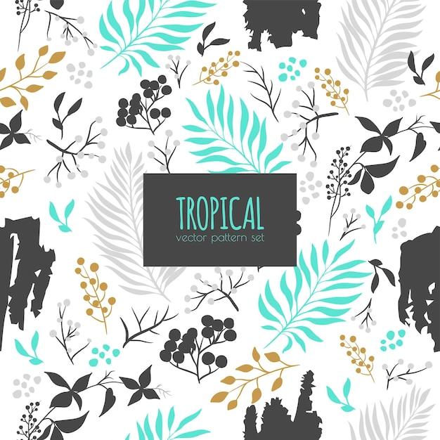 Tropical abstrato sem costura padrão Vetor grátis