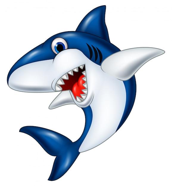 Tubarão Sorridente Dos Desenhos Animados