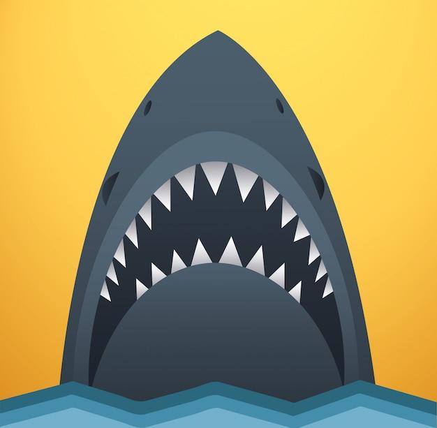 Tubarão, vetorial, ilustração Vetor Premium
