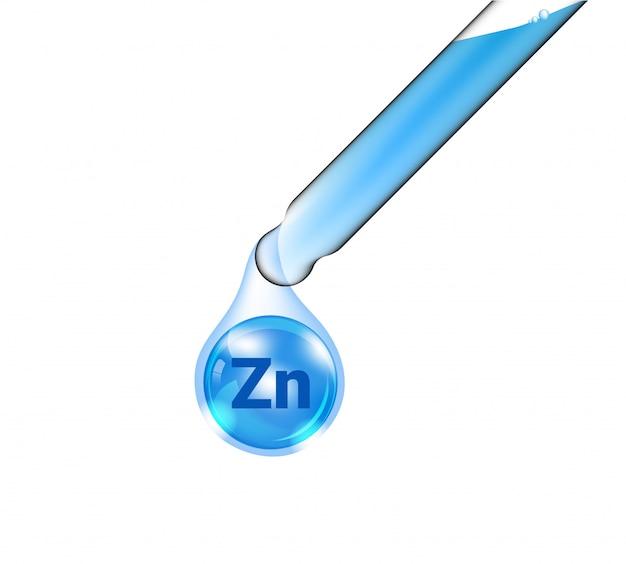Tubo de pipeta, conta-gotas cosmético realista e óleo de vitamina zinco para mercadorias de cuidados com a pele e beleza na isolada Vetor Premium