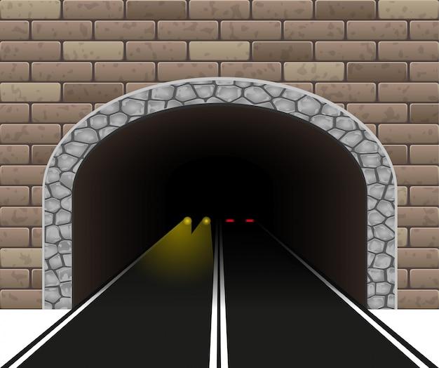 Túnel automóvel Vetor Premium