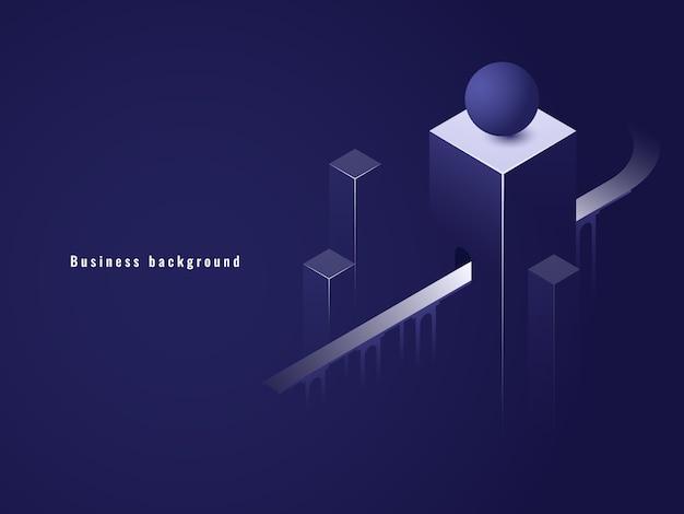 Túnel isométrico, conceito de negócio, estrada Vetor grátis