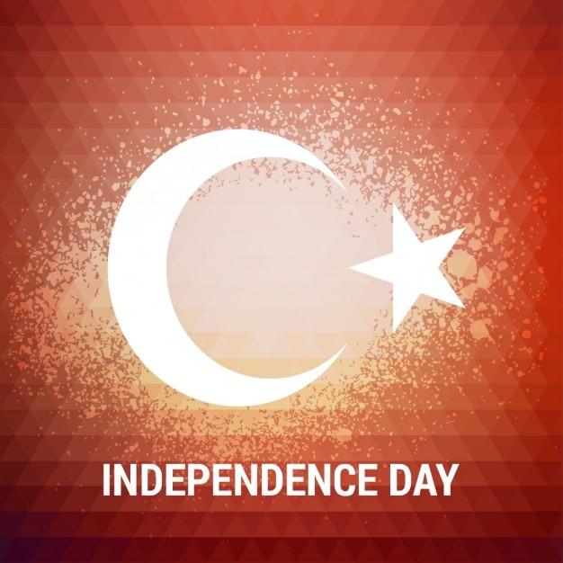Turquia explosão de fundo do dia da independência Vetor grátis
