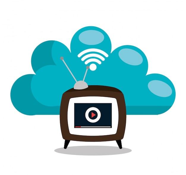 Tv online Vetor grátis