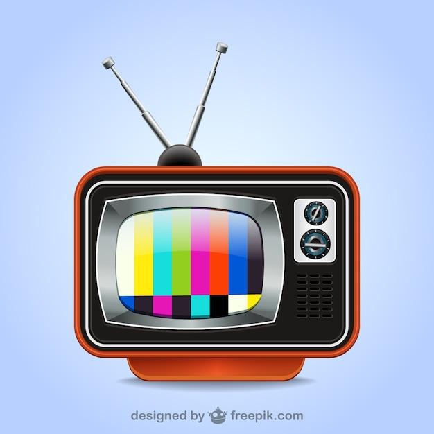 Tv retro ilustração Vetor grátis