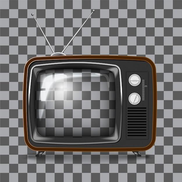 Tv retrô Vetor Premium