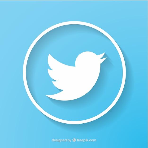 Twitter rede social do ícone do vetor Vetor grátis