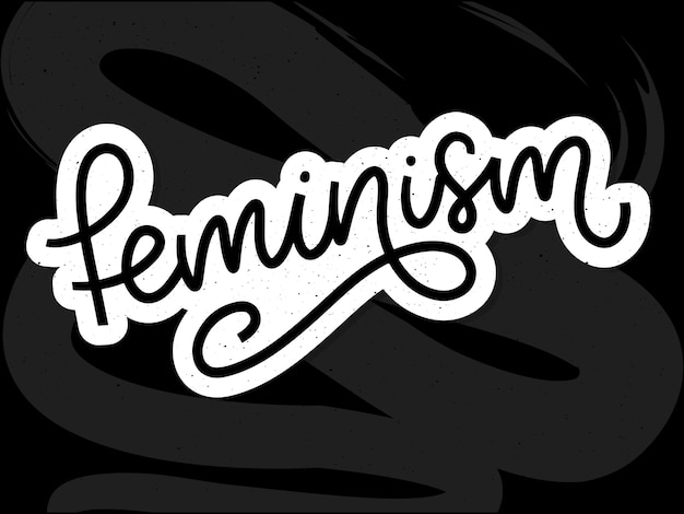 Typographic. carta de feminismo. elemento gráfico. design de letras de tipografia. Vetor Premium
