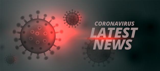 Últimas notícias de design de conceito de banner para coronavírus Vetor grátis