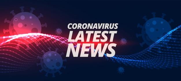 Últimas notícias e atualizações sobre coronavirus covid-19 pandemin Vetor grátis