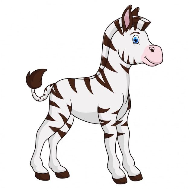 Um animal de zebra dos desenhos animados Vetor Premium