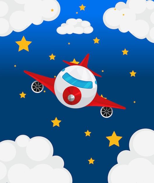 Um avião no céu Vetor grátis