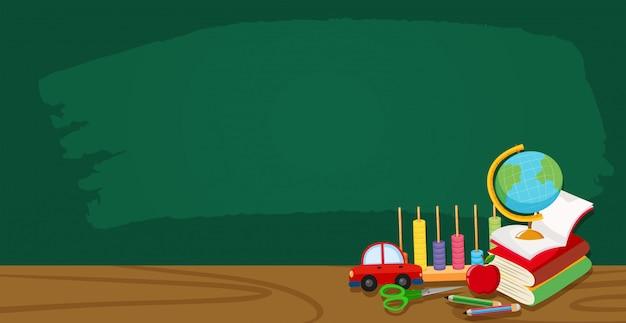 Um banner de quadro de sala de aula Vetor grátis