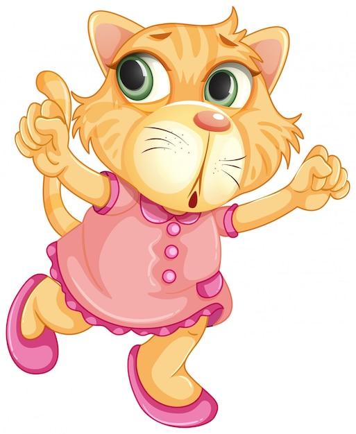 Um, bebê, tigre, personagem Vetor grátis