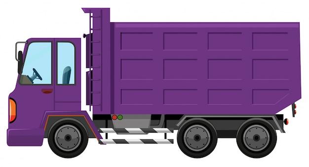 Um caminhão roxo Vetor grátis