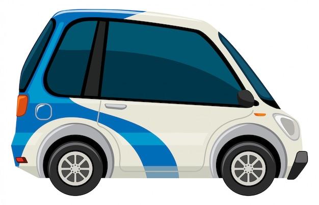 Um carro elétrico no fundo branco Vetor grátis