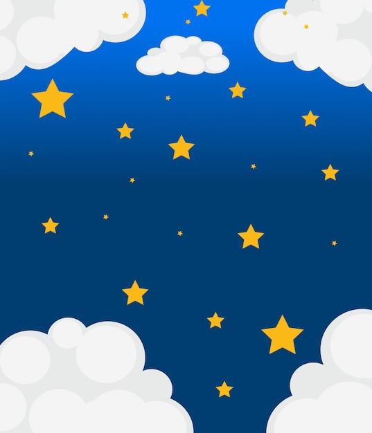Um céu com estrelas brilhantes Vetor grátis