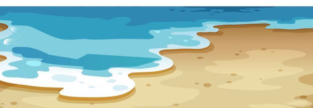 Um, cima, praia, fundo Vetor grátis
