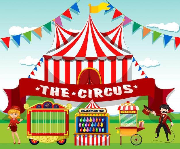 Um circo bonito Vetor grátis