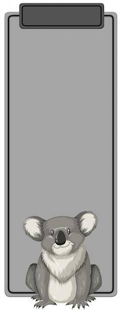 Um coala no modelo em branco Vetor grátis