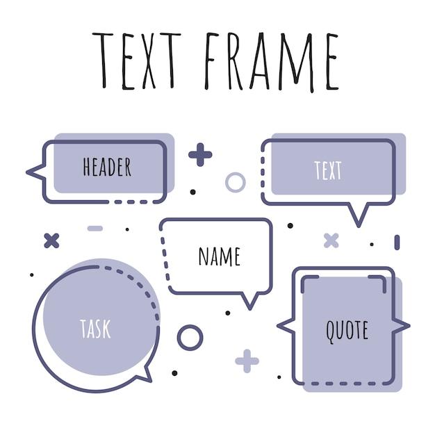 Um conjunto de modelos para o texto em estilo aquarela. Vetor Premium