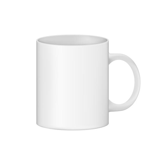 Um copo limpo está pronto para seu uso e design. Vetor Premium
