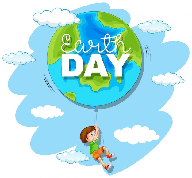 Um dia da terra Vetor grátis