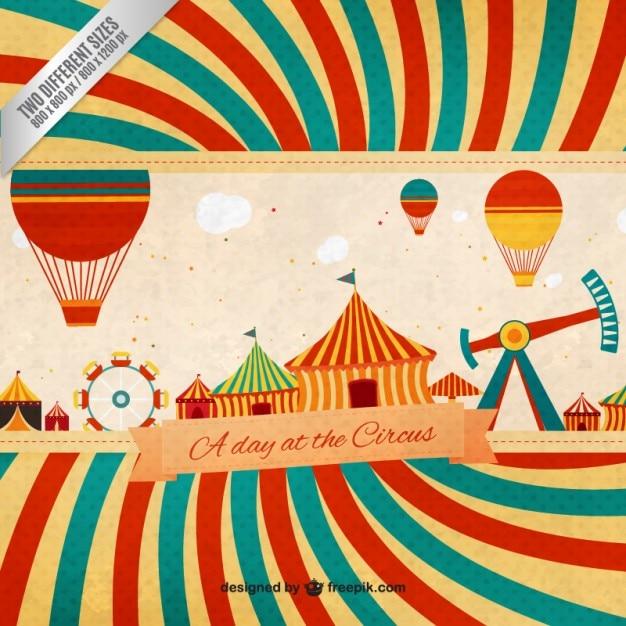Um dia no circo no estilo do vintage | Baixar vetores grátis