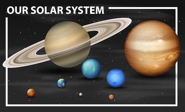 Um diagrama do sistema solar Vetor grátis