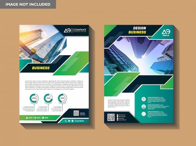 Um layout de brochura de capa de negócios moderno com forma Vetor Premium